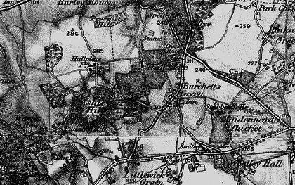 Old map of Burchett's Green in 1895