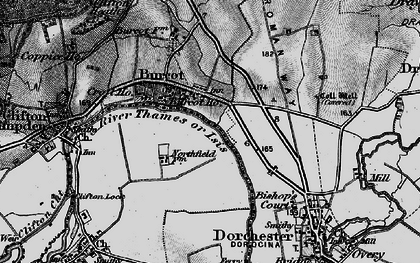 Old map of Burcot in 1895