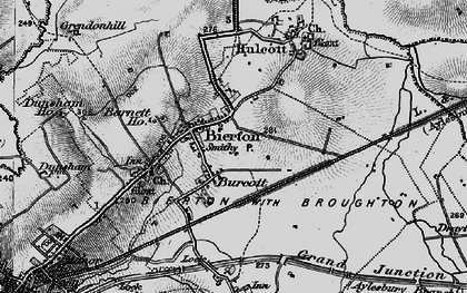 Old map of Burcott in 1896