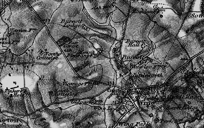 Old map of Burcott in 1896