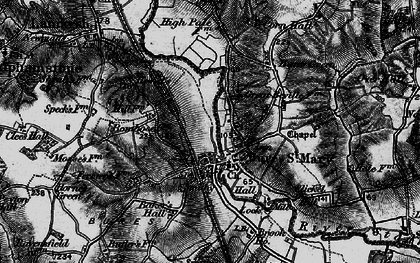 Old map of Bures in 1895