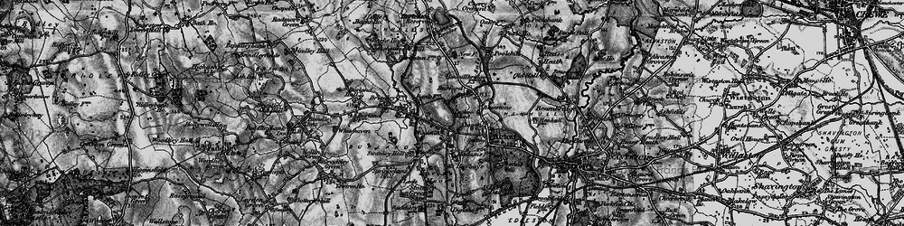 Old map of Acton Grange in 1897