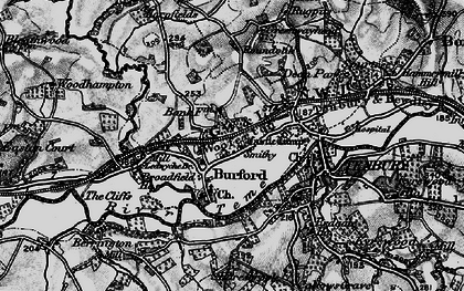 Old map of Ledwich Br in 1899