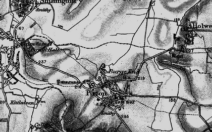 Old map of Burge End in 1896