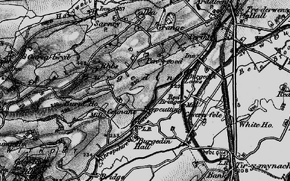 Old map of Burgedin in 1897