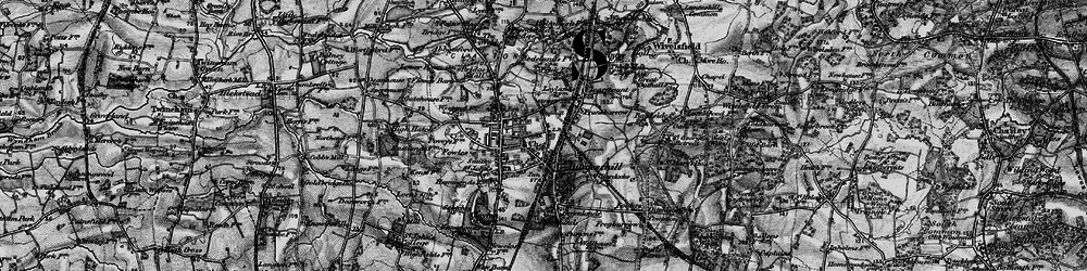 Old map of Burgess Hill in 1895