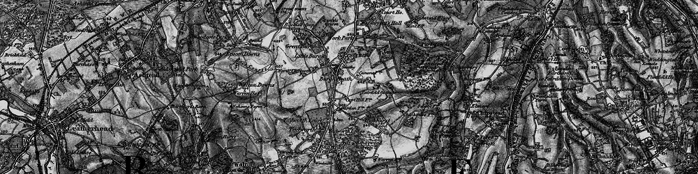 Old map of Burgh Heath in 1896