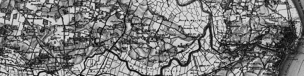 Old map of Wheatacre Marshes in 1898