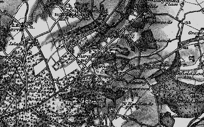 Old map of Burghfield Common in 1895