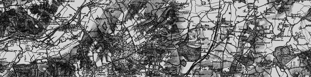 Old map of Wokefield Common in 1895