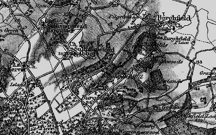 Old map of Burghfield Hill in 1895