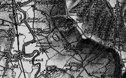 Old map of Burham in 1895
