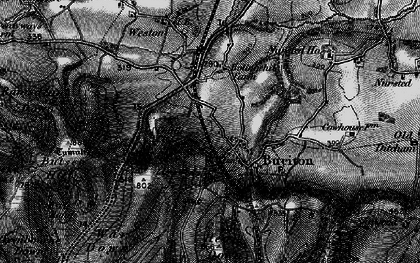 Old map of Buriton in 1895