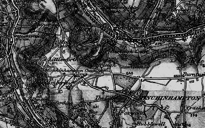 Old map of Burleigh in 1897