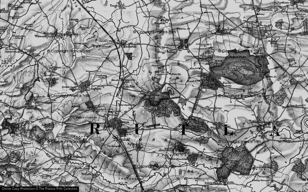 Old Map of Burley, 1899 in 1899