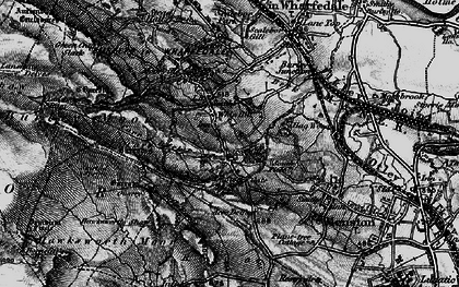 Old map of Burley Woodhead in 1898