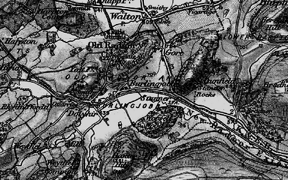 Old map of Worsell Wood in 1899