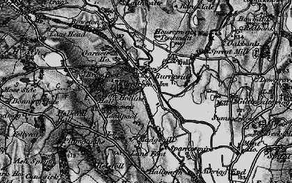 Old map of Lane Foot in 1897