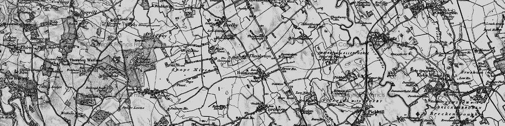 Old map of Burneston in 1897