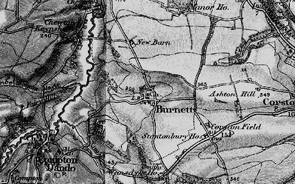 Old map of Burnett in 1898