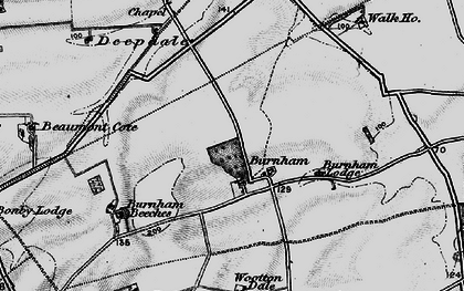 Old map of Wootton Wold in 1895