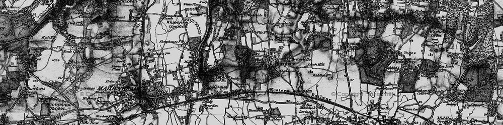 Old map of Burnham in 1896
