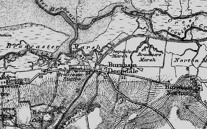 Old map of Burnham Deepdale in 1898