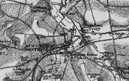 Old map of Burnham Market in 1898