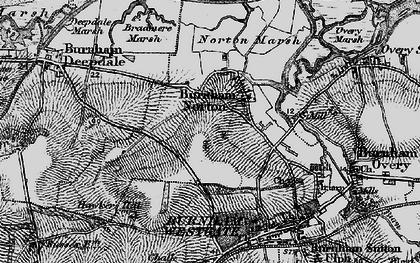 Old map of Burnham Norton in 1898
