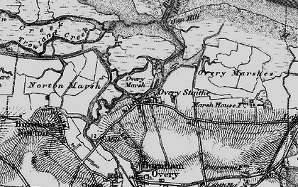 Old map of Burnham Overy Staithe in 1898