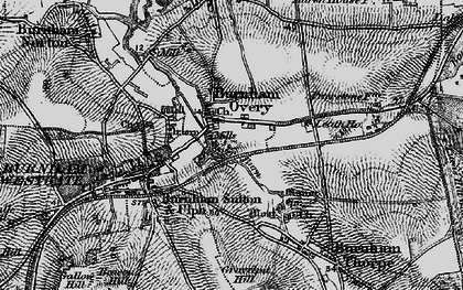 Old map of Burnham Overy Town in 1898