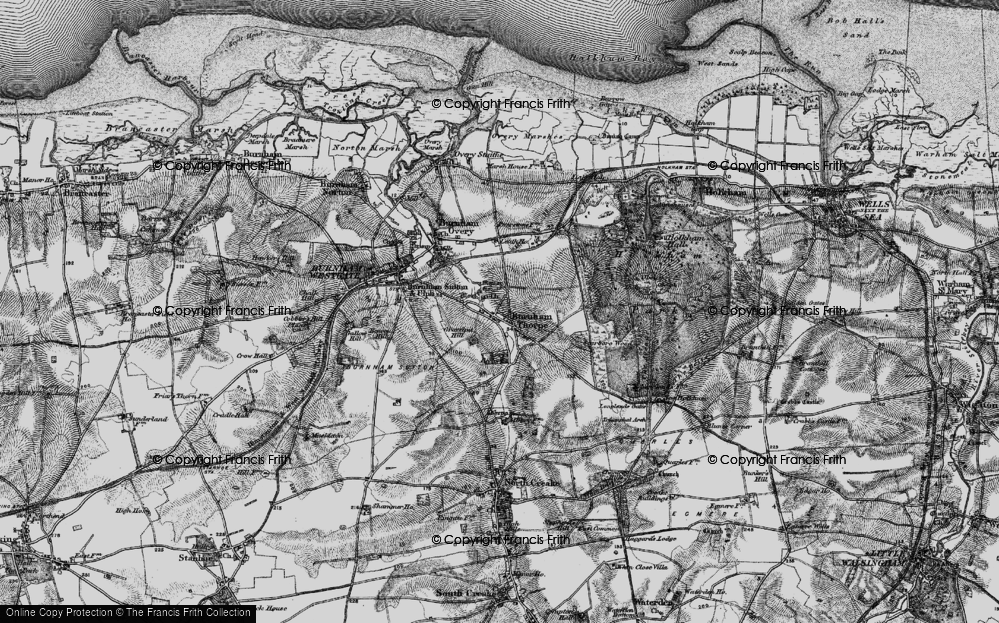 Old Map of Historic Map covering Leath Ho in 1898