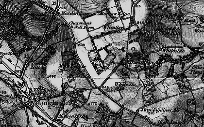 Old map of Burnhope in 1898