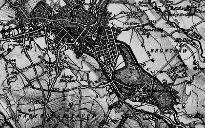 Old map of Burnley Wood in 1896