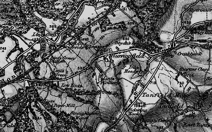 Old map of Burnopfield in 1898
