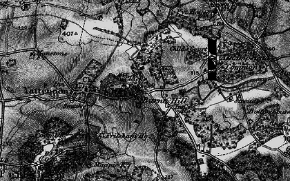 Old map of Burnt Hill in 1895