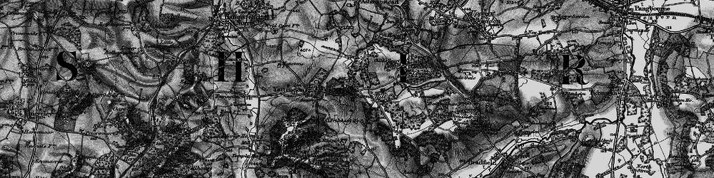 Old map of Yattendon Court in 1895