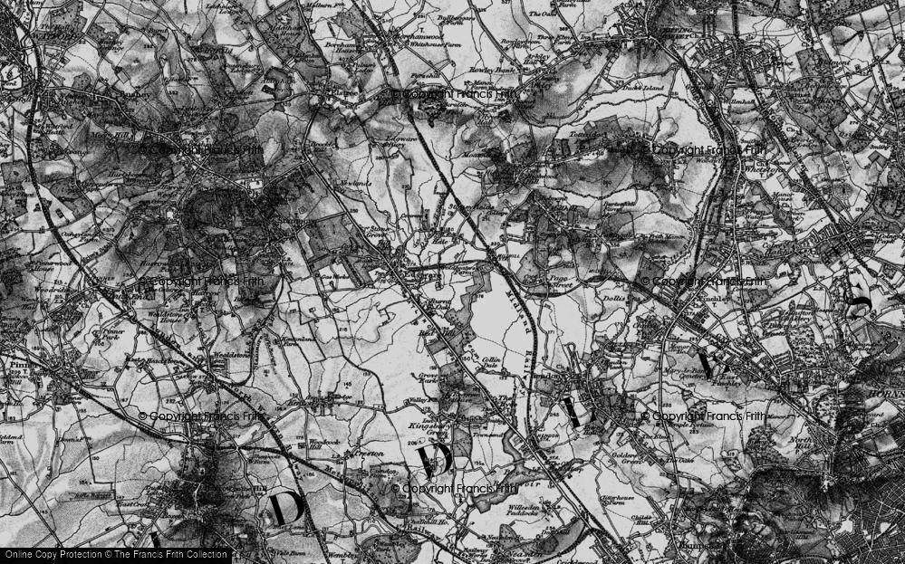 Old Map of Burnt Oak, 1896 in 1896