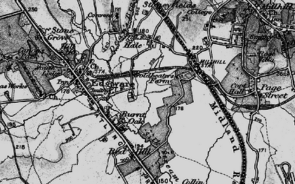 Old map of Burnt Oak in 1896