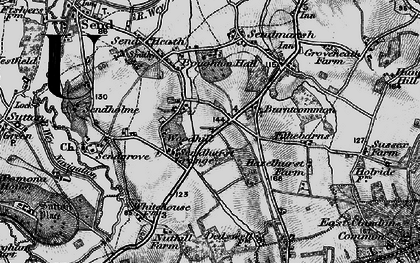 Old map of Burntcommon in 1896