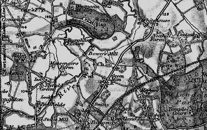 Old map of Burpham in 1896