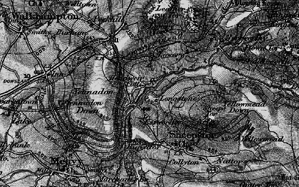 Old map of Leather Tor in 1898