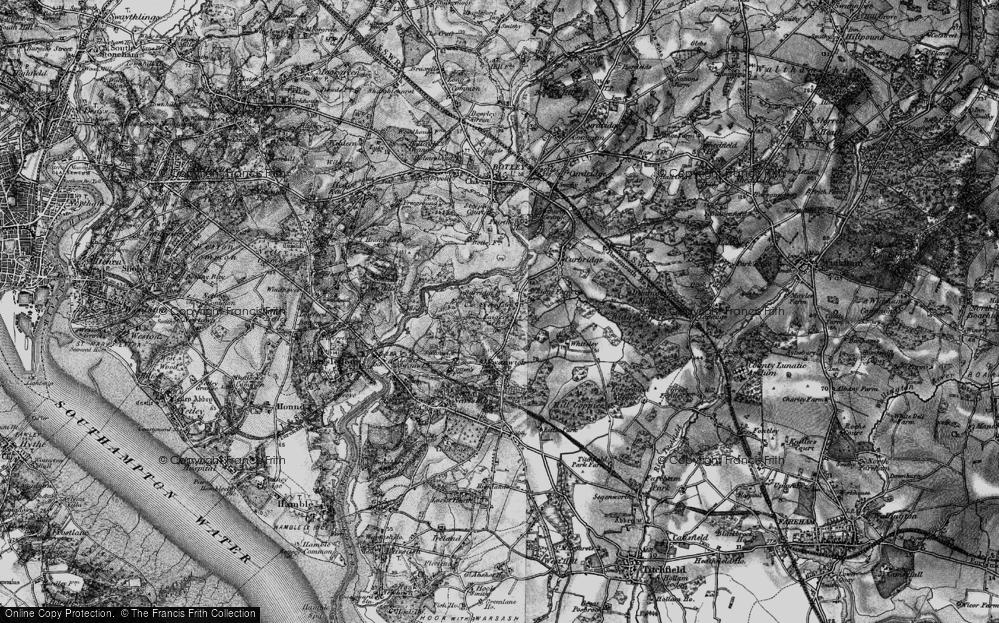 Old Map of Burridge, 1895 in 1895