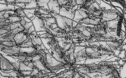 Old map of Balls Corner in 1898