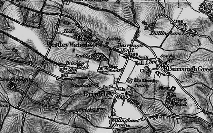 Old map of Burrough End in 1898