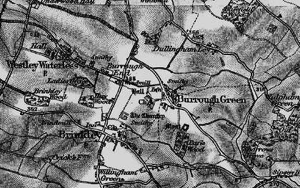 Old map of Burrough Green in 1898
