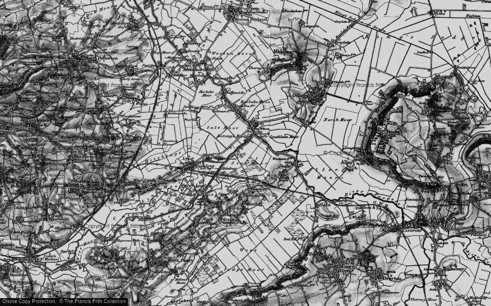 Old Map of Burrowbridge, 1898 in 1898