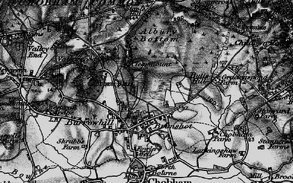 Old map of Albury Bottom in 1896