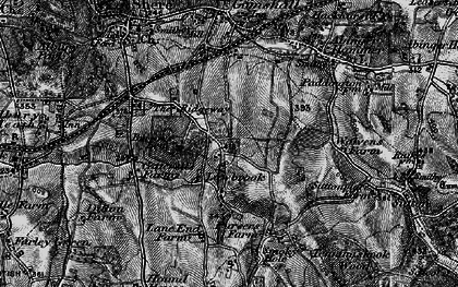 Old map of Burrows Cross in 1896