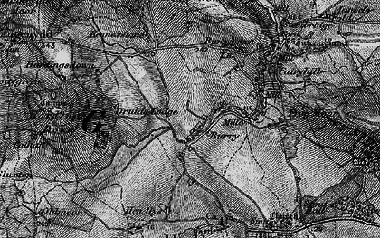 Old map of Burry in 1896